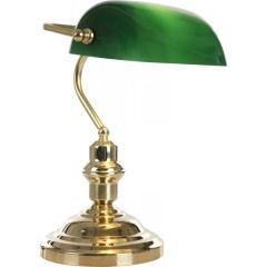 ANTIQUE Tischleuchte messing, Glas grün, Schalter, LxBxH:250x190x360, exkl. 1xE2