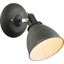 JONAS Strahler Metall grau silberfarben, Schirm innen weiß, BxH:150x220, AL:180, exkl. 1xE14 40W 230