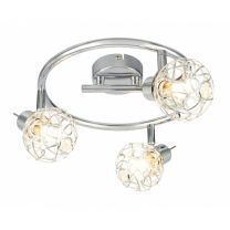 BOLT LED Strahler chrom, Aluminiumgeflecht silber metallic, Acrylkristalle klar, inkl. 10676C, D:250