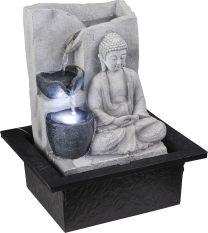 ALBERT Brunnen Kunststoff grau, inkl. Pumpe, LxBxH:210x185x255, inkl. 1xLED 0,13