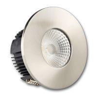 LED Einbaustrahler IP65 für GU10 Leuchtmittel inkl. Cover rund, nickel