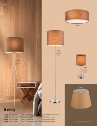PACO Lampenschirm Textil braun, nur Schirm, für E27 Fassungen, D:350, H:250 - GLOBO 15186S3 Klassisc
