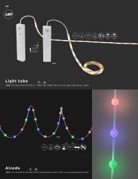 LIGHT TUBE LED-Band Kunststoff, im Blister, 30 LED/m, 3M Tape, kürzbar, Schalter